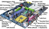 mother board with CPU on it