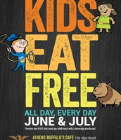 Kids Eat Free Every Day June & July