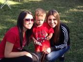 Kayla & Josie with nephew Dylan