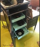 Retro Black Cabinet