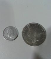 1 peseta y 100 pesetas