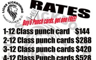 We have a no monthly payment, punch card system.