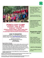 Save the Date for Ponca Day Camp