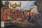 Cortes conquering the Aztecs