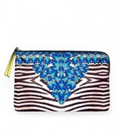 Jewelled Zebra Capri Pouch: Was £30 now £15