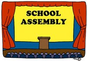 School Assembly this Friday at 8:35am!