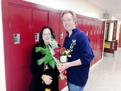 Mrs. Levi (Retiring) with Mr. McGinley
