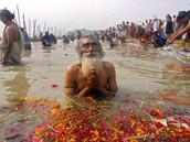 Praying in Ganges