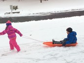 Parker and Hadley enjoying the snow!
