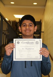 Tohickon Eighth Grader Qualifies for the State Geography Bee