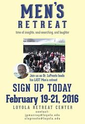 Men's Retreat Feb 19-21st