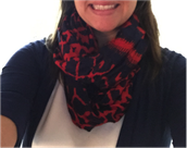 UNION SQUARE SCARF - MARINE BLUE/RICH RED IKAT -$59