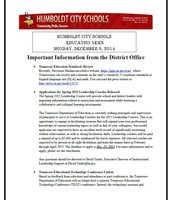 Humbolt Education News