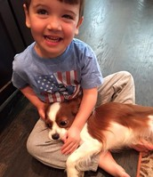 Member Candids: Cameron Brookins with our new Rescue pup Izzy