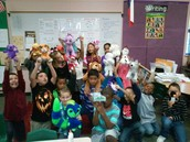 Mrs. Noble's class got to bring stuffed animals to school!