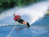 Fui esquiar de agua.