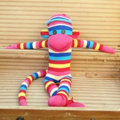 Rainbow Sock Monkey (YEAH!)