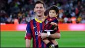 Messi with Thiago