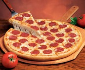 Here is our pepperoni pizza. Delicious!