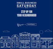 Join us on Small Business Saturday!