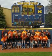 Softball Teams goes to Ann Arbor.