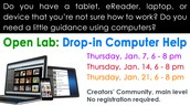 Open Lab: Computer Help