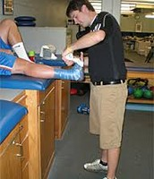 Working hard to become an athletic trainer