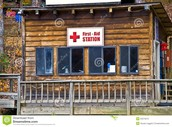 First aid building to treat injuries that might of happened in the student's classes