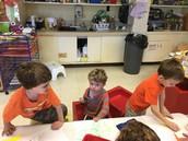 Orange boys working together!