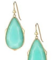Sentiment Earrings - Ocean/Gold (Light weight)