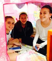 """""""In-tents"""" reading in Mrs. C. Couto's class"""