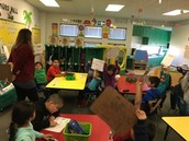 Mrs. Herrera's class having some Math fun with white-boards.