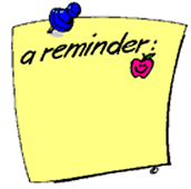 special notes and reminders