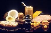 Foods high in healthier fat