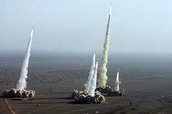 4 ICBMs launching from the united states