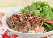 Kebab rice noodles