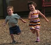 Siblings Running
