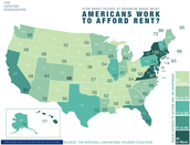 Hours Worked to Afford Rent by State