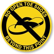 No Open Toes Shoes