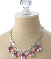 CALLIE NECKLACE - PINK / SILVER
