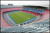 Soccer Field in Barcelona, Spain