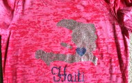 Pink burnout shirt