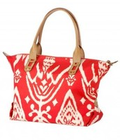 How Does She Do It Bag-Red Ikat