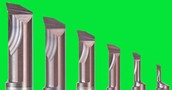 Internal profiling and boring solid carbide bar