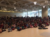 Our Estabee audience at the Grade 2 assembly!