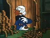 Ebenizer Scroodge as Donald Duck