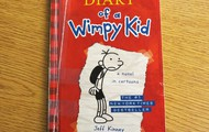 Diary of  Wimpy Kid, by Jeff Kinney
