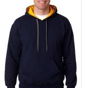 8oz. 50/50 Contrast Hooded Sweatshirt