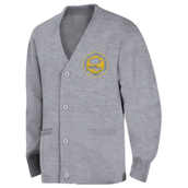Cardigan Sweater with Logo