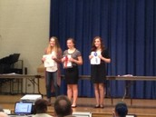 Freshman students winning the MLK writing contest!